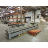 """Lot: cantilever racks, (12) uprights, 18'x9""""x4"""", NO BASE, (8) 5' arms, (2) T bases, 12'x9'x4"""" w/"""