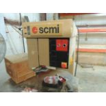 SCMI R-9 High speed pin router, 460v. Extra bits, foot pedal. SN# AA270784. HIT# 2158094.