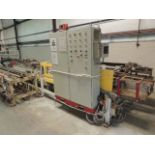 VT Automation Post Former. Ram, w/ infeed conveyor, AB 1336 control box, control panel, 460v. NEED