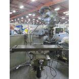 "Bridgeport Series 1 Vertical Mill, 2 HP, 9"" x 48"" bed, 3 axis, 40° tilting head, Newall Digital"
