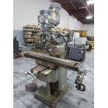 "Sharp LA-56 Vertical Mill, 3 axis, 9"" x 50"" feed table, 90° Rotating Head, 40° Tilting head,"