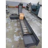 "Fongex Chip Conveyor, 12"" x 13' x 32"" Vertical lift. S/N 1470287. HIT# 2203462. Back Warehouse."