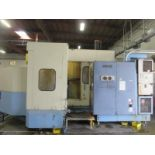 OKK MCH600 CNC Horizontal Machining Center. 4 Axis, 40hp, 2 Step Max 10,000 RPM Spindle, 2-Automatic