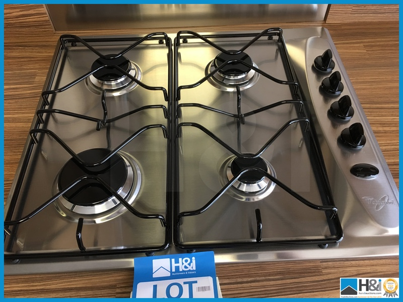 whirlpool 4 ring gas hob 600 x 500 new and unused appraisal excellent serial no na location. Black Bedroom Furniture Sets. Home Design Ideas