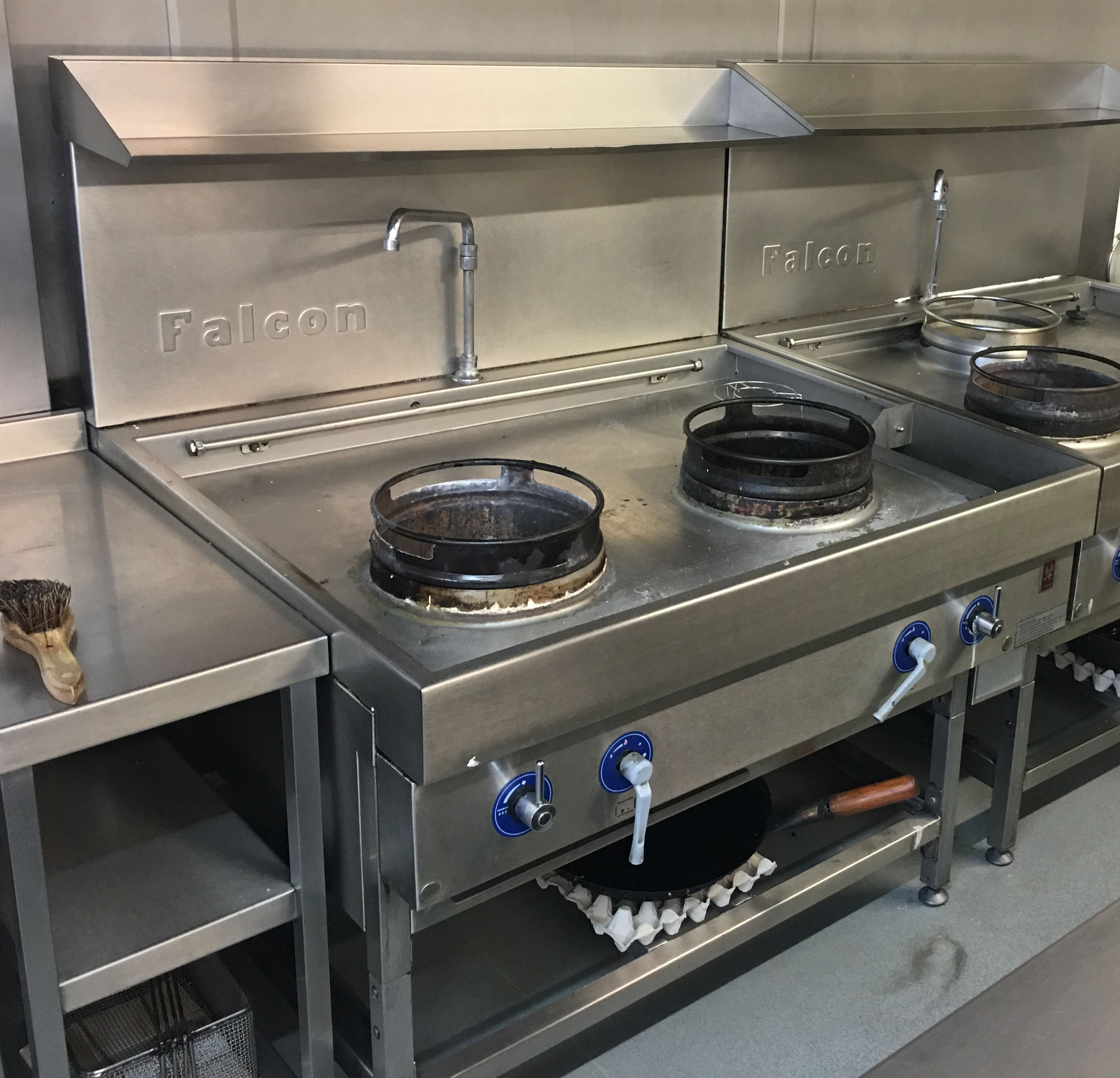 Industrial Kitchen Auctions: 1 X Falcon Commercial Two Burner Wok Station