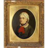 Ritratto di donna vittoriana. Olio su tela cm. 24x29 scuola inglese dell' 800 cornice coeva