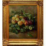 Natura morta con frutta, olio su tela primi 900 cm. 35x40 cornice coeva