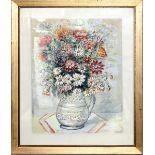 Mazzo di fiori, Carlo Bodini 1967, acquerello su carta, cm. 36x48