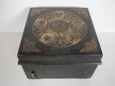 Rare boîte à musique à disques perforés, mécanisme mécanique SYMPHONION, [...]