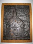 Plaque en fonte gravée (longueur : 21 cm) de la chapelle Sainte Cunegonde à [...]