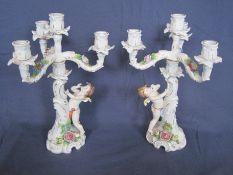 Paire de bougeoirs en barbotine, porcelaine allemande des années 1930 – Infimes [...]