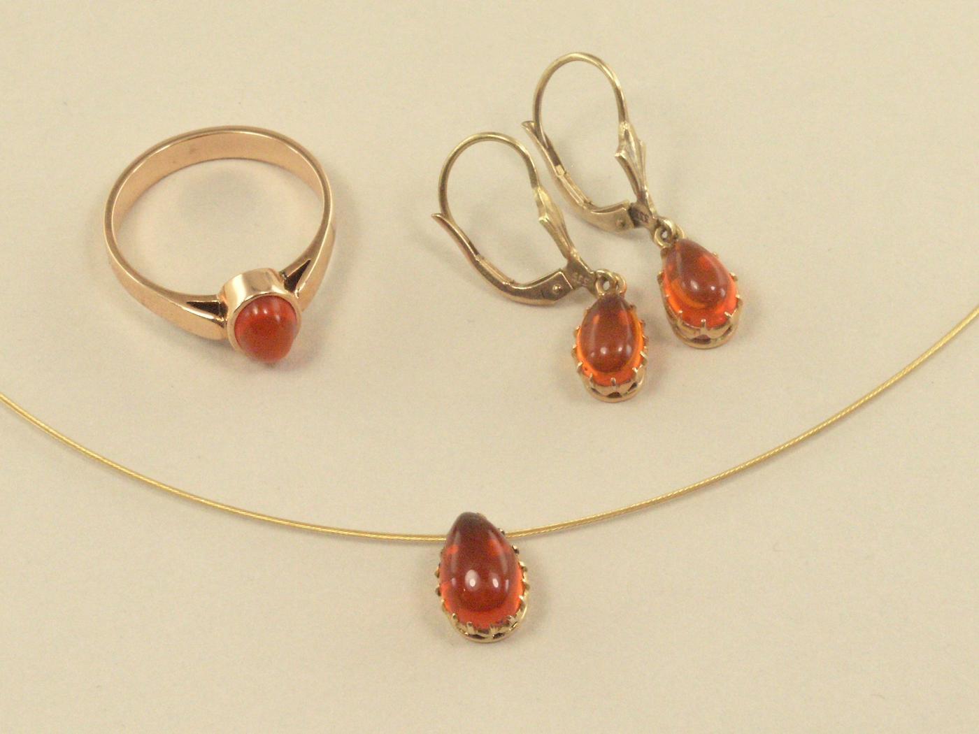 1 Set Halskette Collier mit Anhänger 1 Paar Ohrringe