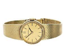 """Armbanduhr: goldene vintage Damenuhr der Marke """"Longines"""", 18K Gelbgold Ca. 17cm lang, ca. 29,6g,"""