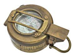 Kompass: seltener britischer Militärkompass, Henry Browne & Son MK III, 40er Jahre Ca. Ø60mm,