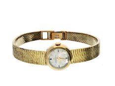 Armbanduhr: feine, automatische Damenuhr ETERNAMATIC, new-old-stock, 14K Gold Ca.17cm lang, ca. 34,