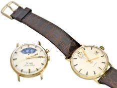 Armbanduhr: Konvolut von 2 vintage Armbanduhren, beide in sehr gutem Zustand, um 1960 1. goldene