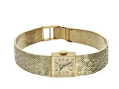 Armbanduhr: goldene Damenuhr Marke Para, vintage, new-old-stock Ca.18cm lang, ca. 32g, 14K Gold,