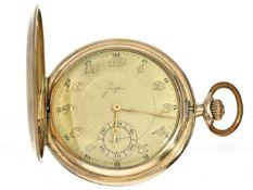 Taschenuhr: Savonnette aus der Zeit des Art déco, Marke Junghans Ca. Ø52mm, ca. 76g, Gehäuse im