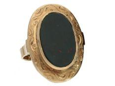 Ring: antiker Goldschmiedering, vermutlich 40er Jahre Ca. Ø19,5mm, RG61, ca. 10,5g, 14K Gold, sehr
