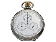 Taschenuhr: extrem seltener Chronograph mit Regulatorzifferblatt, Smith & Son London, um 1890 Ca.
