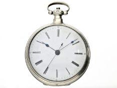 Taschenuhr: seltene Taschenuhr für den chinesischen Markt mit Scheinpendel und Zentralsekunde,