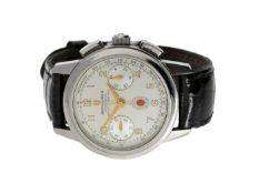 Armbanduhr: besonders großer vintage Universal Geneve Stahl-Chronograph Ref.889.290,