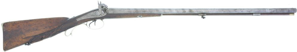 Perkussionsdoppelflinte Wanderer A. Rotheburg Kal. 12mm@ LL 755mm TL 1155mm, aushakbarer