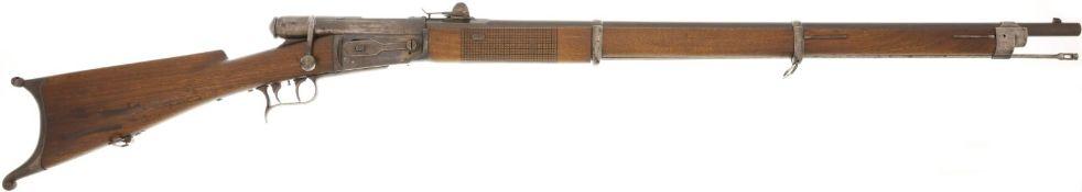 Scharfschützenstutzer, Vetterli M 1869, Privatausführung, Kal. 10.4mm@ LL 840mm, TL 1340mm,