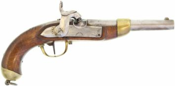 Perkussionspistole, eidg. Ord. 1842, Kal. 17.6mm@ Hersteller Beuret FrŠres, Liege. Auf dem Lauf