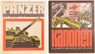 """Konvolut von 2 Büchern@ 1. """"Panzer"""" von Armin Halle / Carlo Demand, illustrierte Geschichte der"""
