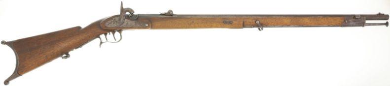 """Scharfschützenstutzer 1864, Perkussionszündung, Kal. 10.4mm@ Zürcher Wappen mit """"ZZ"""", Zeughaus"""