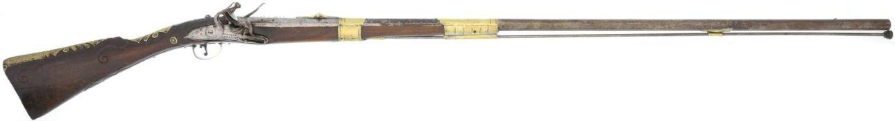 """Steinschlossflinte italienisch, """"Kominaz Lazarin"""", Kal. 16.5mm@ LL 1060mm, TL 1220mm, Lauf mit"""