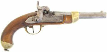Perkussionspistole, eidg. Ord. 1842, Kal. 17.6mm@ Hersteller Beuret FrŠres, Liege. Belgischer