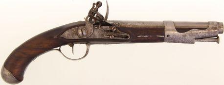 "Steinschlosspistole, F-Ord. ""Pistolet D'Officier de Dragons Mle 1767"", 17.6mm@ Keine"