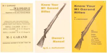"Konvolut von 3 Brochuren, Garand M1@ 1. ""M-1 Garand"", Departement of the Army, Technical Manual."