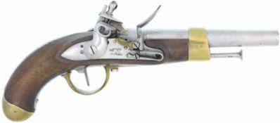 "Steinschlosspistole, französiche Mod. an 13, ""Ma.Rle. di Napoli"", Kal. 17.6mm@ LL 200mm, TL 350mm,"