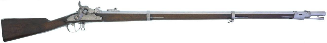 Infanteriegewehr Schweizer Ord. 1842/59/67, Kal. 18mmRF@ Auf Hinterladung geändert nach Milbank