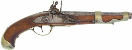 Steinschlosspistole, franz. Ord. 1763/66, Kavallerie und Dragoner, Kal. 18mm@ LL 230mm, TL 400mm,