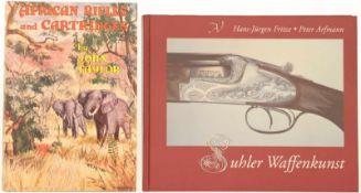 """Konvolut von 2 Büchern@ 1. """"Suhler Waffenkunst"""" von Hans-Jürgen Fritze / Peter Arfmann. Interessante"""