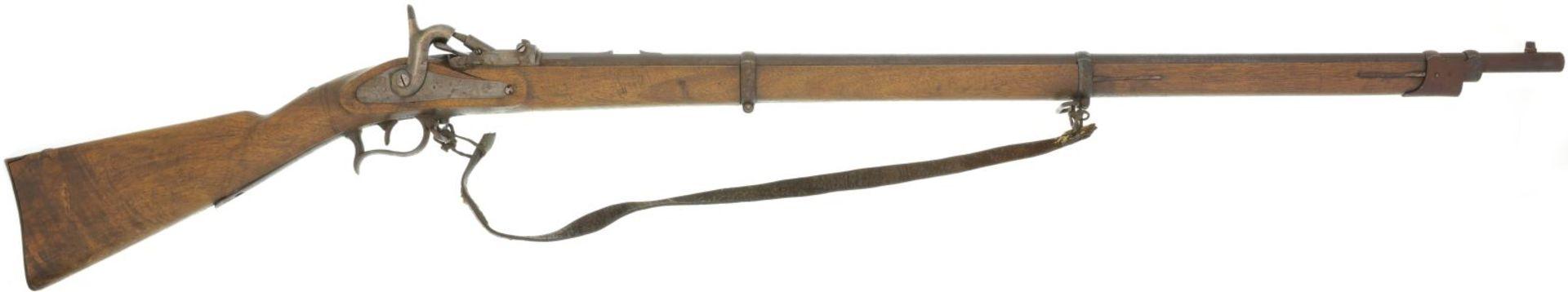 Infanteriegewehr, Ord. 1863/67, Kal. 10.4mmRZ@ LL 920mm, TL 1380mm. Abgeändertes Perkussionsgewehr