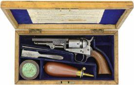 Perkussionsrevolver Colt London Model 1849 Pocket, Kal. .31@ LL 100mm, TL 220mm, originalgebläuter