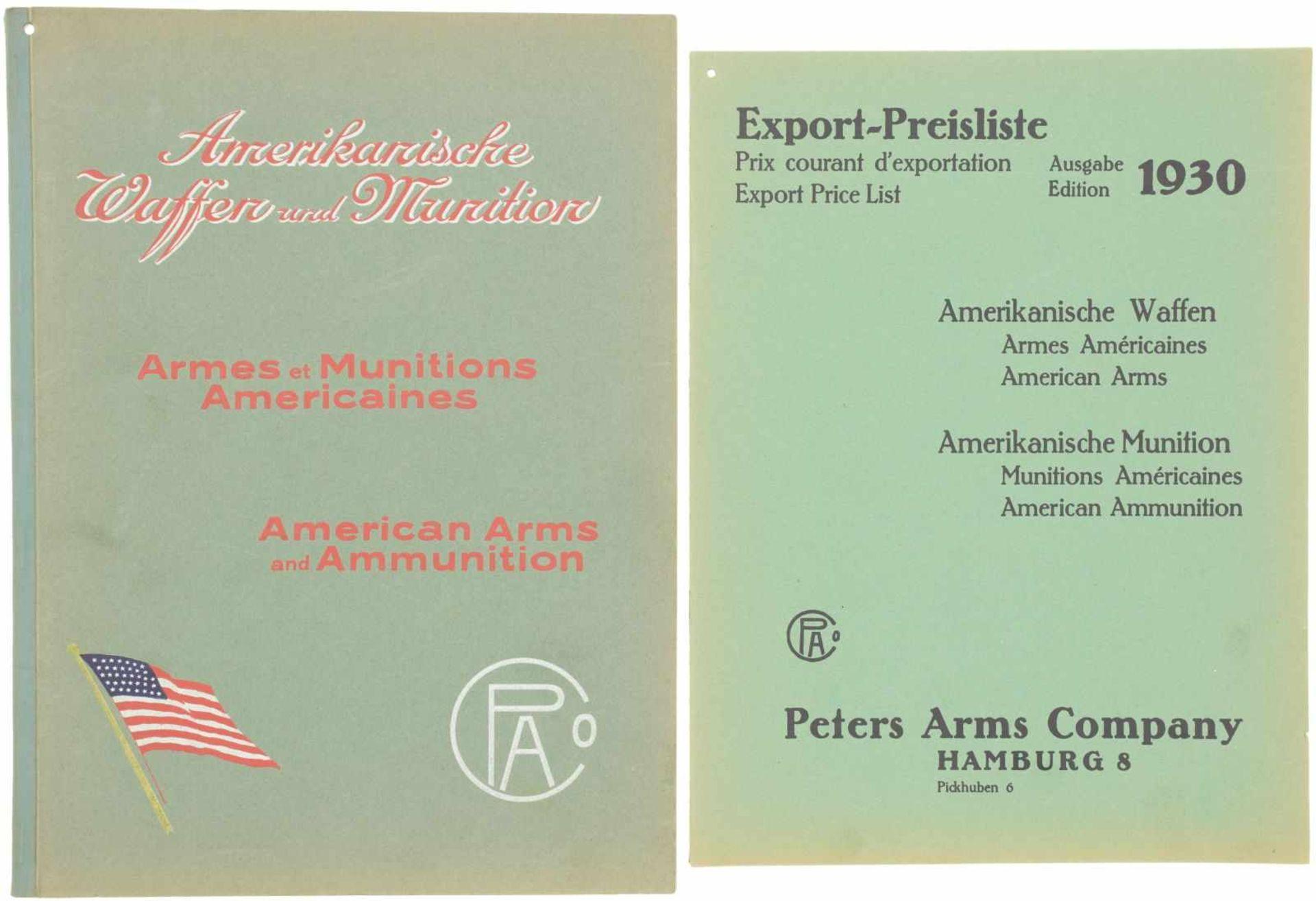 """Originalkatalog, """"Peters Arms Company, Import amerikanischer Waffen und Munition"""", Hamburg 1930,"""