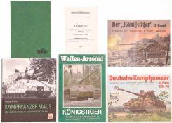 Konvolut von 2 Büchern und 4 Heften@ 1. Kampfpanzer Maus von Michael Fröhlich. 2. Kraftfahrzeuge und