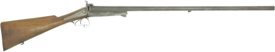Doppelflinte Lefaucheuy, belgische Herstellung, Kal. 12Lef@ LL 790mm, TL 1195mm, Basküle mit Reste