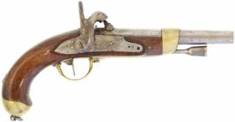 Perkussionspistole, F-Ord. AN XIII, Kal. 17.6mm@ Hergestellt in Charleville, auf