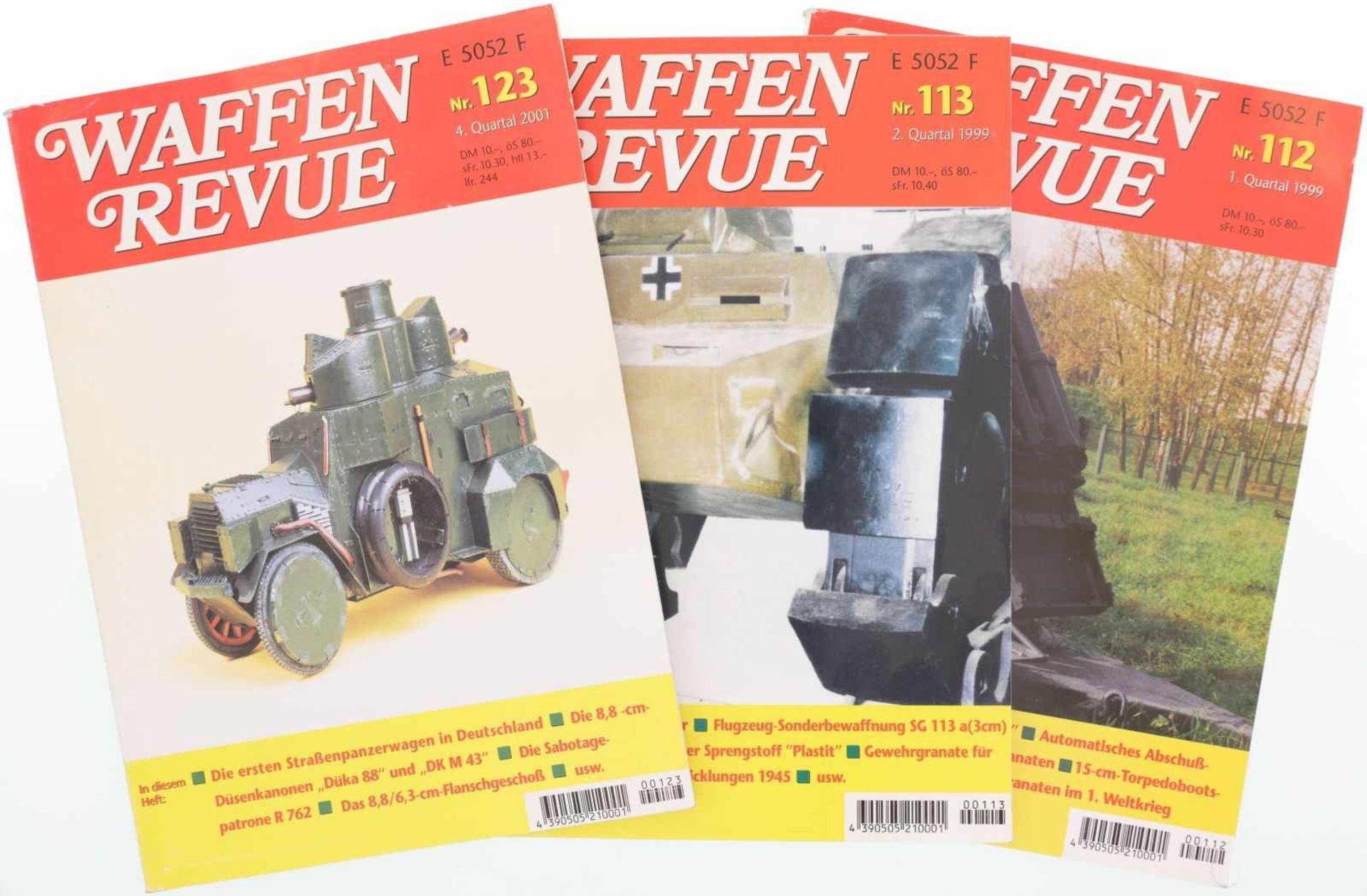 """Konvolut von 123 Ausgaben """"WAFFEN REVUE"""" Nr.1 bis Nr. 123@ Vollständige Sammlung aller 123 Bände"""