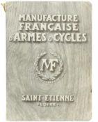 "Katalog ""Manufacture Francaise d'Armes & Cycles""@ Der aus der Zeit um 1920 stammende Katalog zeigt"
