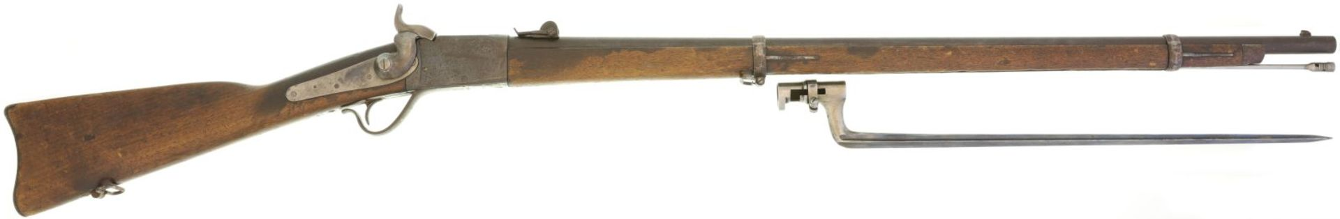 Geniegewehr, Peabody 1867, Kal. 10.4mmRZ@ LL 830mm, TL 1310mm, Blockverschluss, US-Originallauf