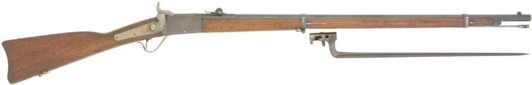Geniegewehr Peabody 1867/77, Kal. 10.4mmRZ@ LL 830mm, TL 1310mm, Blockverschluss, CH-Lauf mit