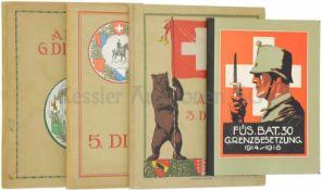 Konvolut von 4 Alben 1. Füsilier-Bataillon 30 während der Grenzbesetzung 1914-1918, 2. Album 3.